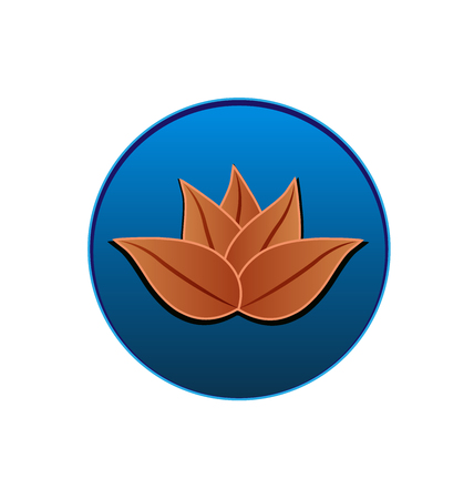 A Lotus leather logo seal vector design