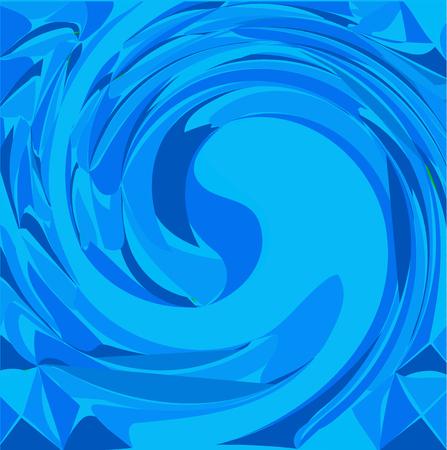 Vector blue wave background template Illustration