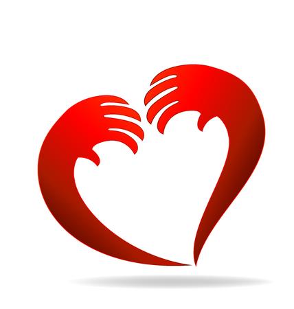 Hands heart icon vector design