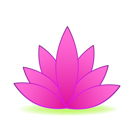 Pink lotus flower logo design