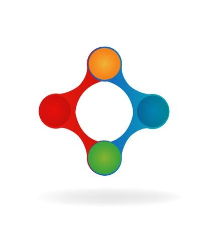 Logo technology connection symbol vector