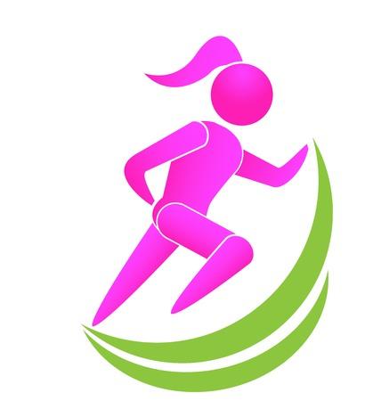 Running girl icon