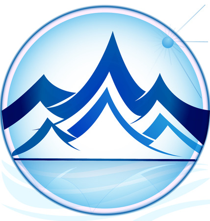 Blue mountains logo icon vector template
