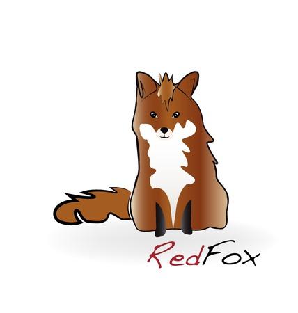 Fox illustration logo vector Illustration