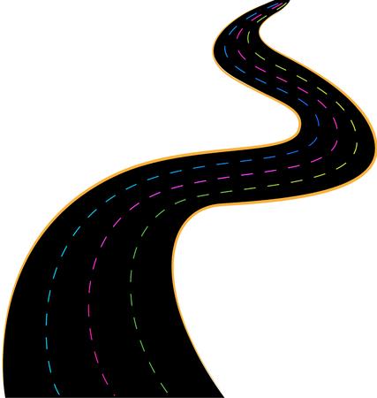 Simplistic speed road vector Stock Illustratie