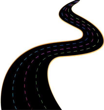 Simplistic speed road vector Illustration