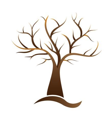 Tree vector element logo illustration