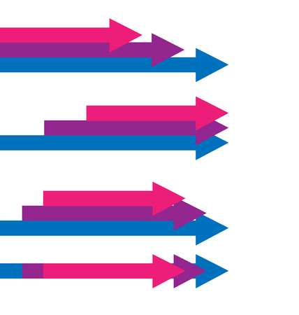 Arrows business pointing towards a direction vector