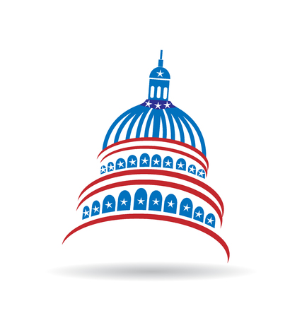 Capitol usa government logo vector