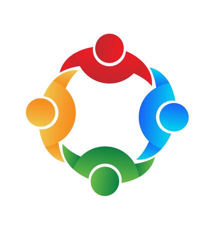 Vettore dell'icona di associazione e collaborazione di lavoro di squadra