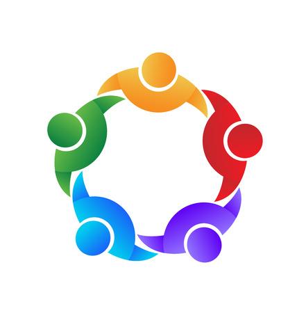 Vector de icono de colaboración y colaboración de trabajo en equipo