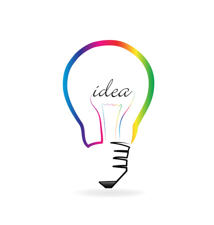 Light bulb creative idea vector