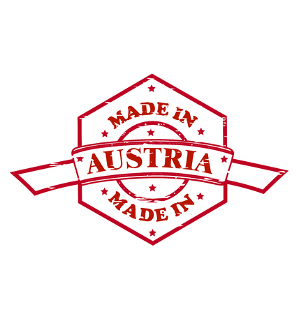 Made in Austria red seal icon Ilustracja
