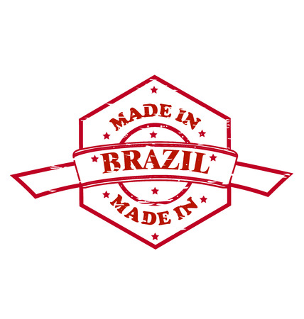 Made in Brazil red seal icon