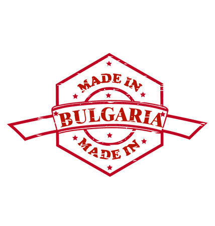 Made in Bulgaria red seal icon