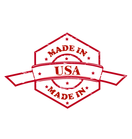 Made in USA red seal icon vector illustration