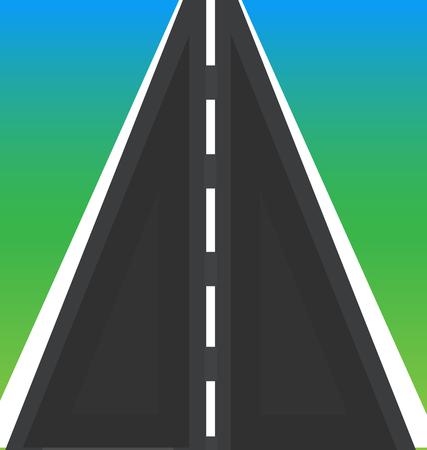 Straight street road vector  イラスト・ベクター素材