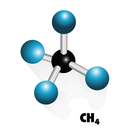 Methane molecule vector icon