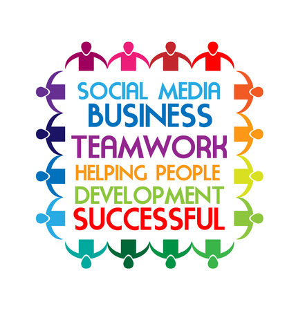 Business sayings, teamwork, social media text, vector Illustration