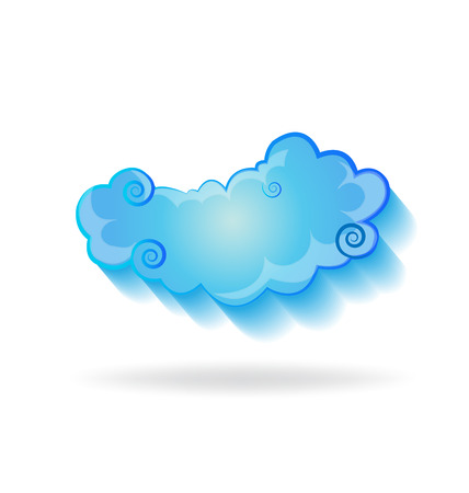 Isolated cloud sky vector symbol
