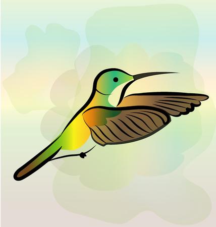 Hummingbird flying vector icon symbol