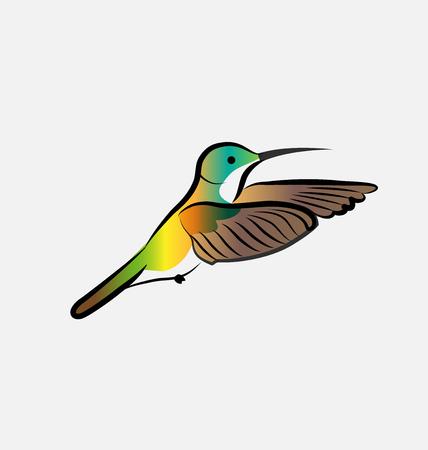 Hummingbird isolated vector icon Illusztráció