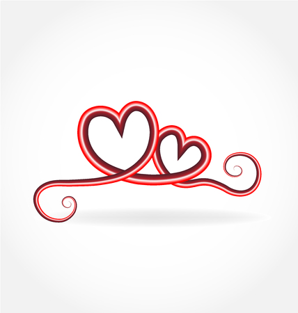 Love heart forever vector icon