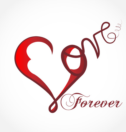 Valentine's day, heart love forever, vector