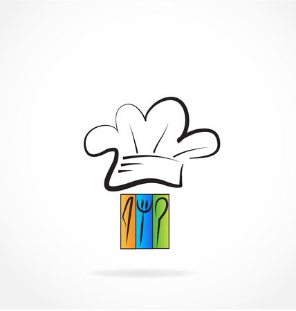 Cook chef hat and equipment vector illustration design. 일러스트