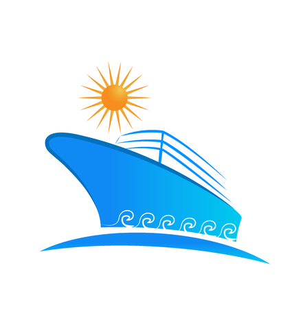 Cruise ship business, vector isolated icon illustration design.
