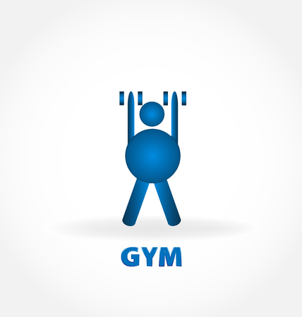 Gym, healthy and fit person, vector illustration design.