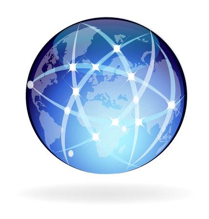 Worldwide network connection vector illustration design.