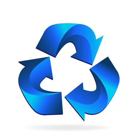 Recycle vector icon illustration design.