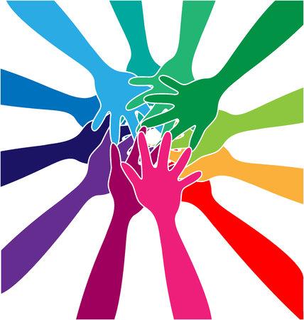 Teamwork community unity, colorful vector illustration design. Vectores