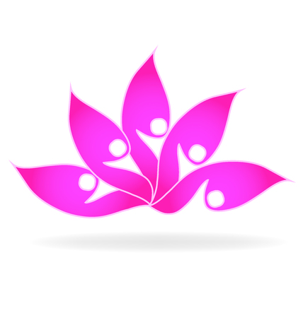 Pink lotus flower, vector icon illustration design.