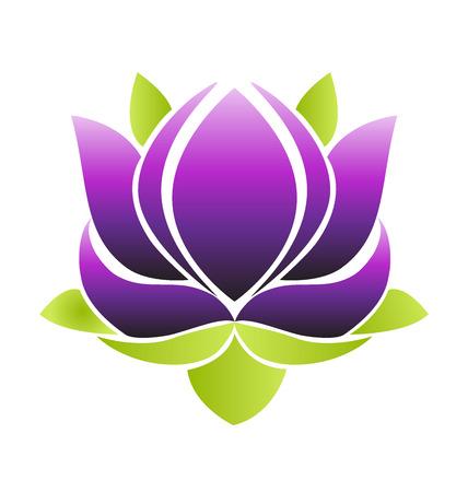 Purple flower lotus, vector icon symbol illustration design.