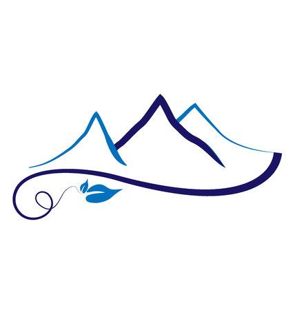 Mountains abstract icon illustration design. Illustration