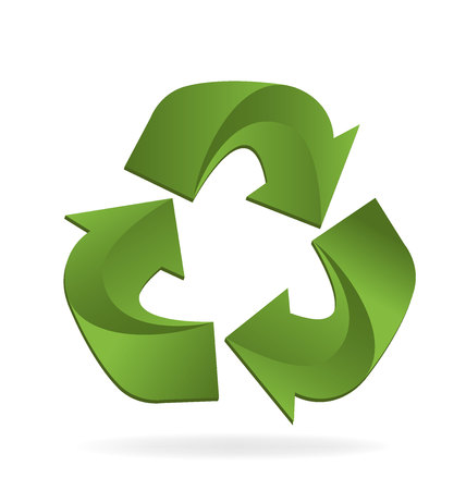 Recycle Eco conservation symbol vector icon illustration design. Illustration