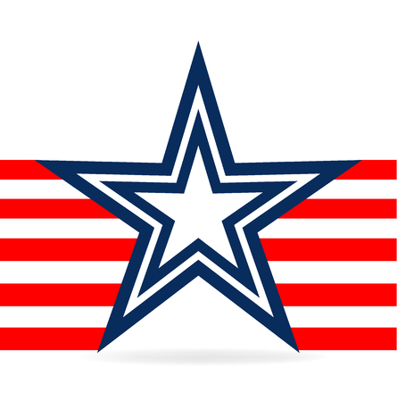 A flag star vector isolated on plain background. Illustration