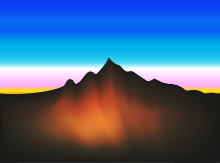 Landscape mountain view, vector illustration design.