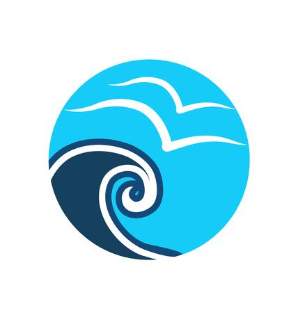 Tropical beach vector icon