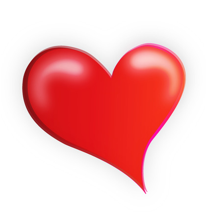 Valentine's red heart love vector icon