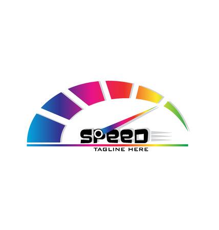 Speed meter logo vector