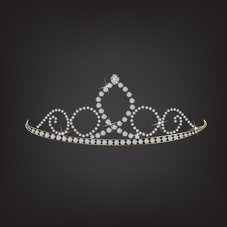 Princess crown tiara vector symbol