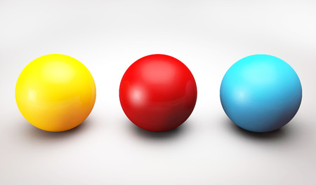 Sphere balls multi-colored 3D render illustration 写真素材