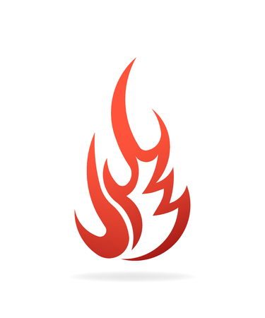 Fire Flame Fuel. Logo vector design
