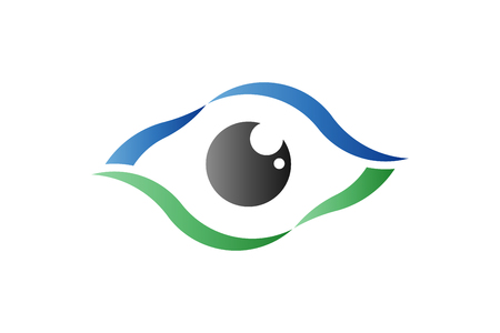 Eye care optical retina. Logo vector symbol