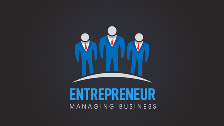 Business people, entrepreneur company vector logo  イラスト・ベクター素材
