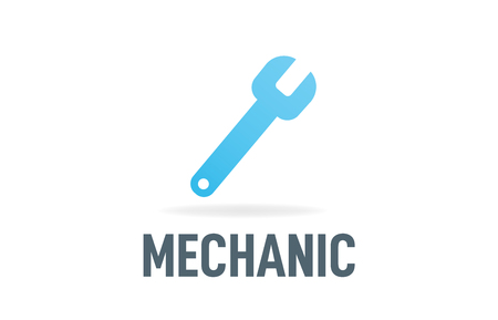 Mechanic wrench business icon vector logo image design illustration