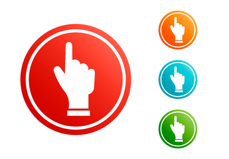 Hand icon pointer vector set design illustration symbol